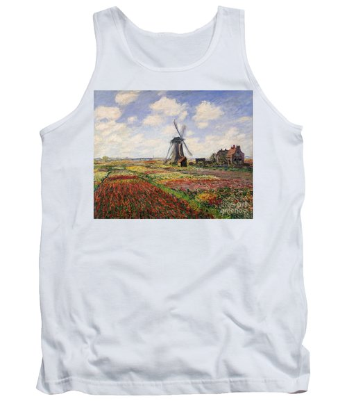 Tulip Fields With The Rijnsburg Windmill Tank Top