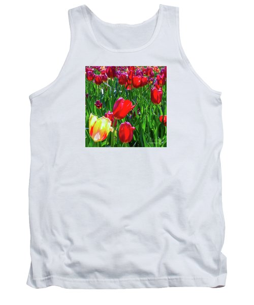 Tulip Garden In Bloom Tank Top