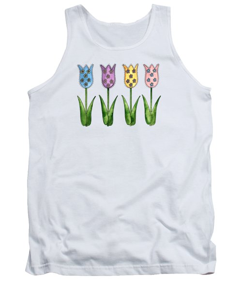 Tulip Row Tank Top by Shelley Wallace Ylst