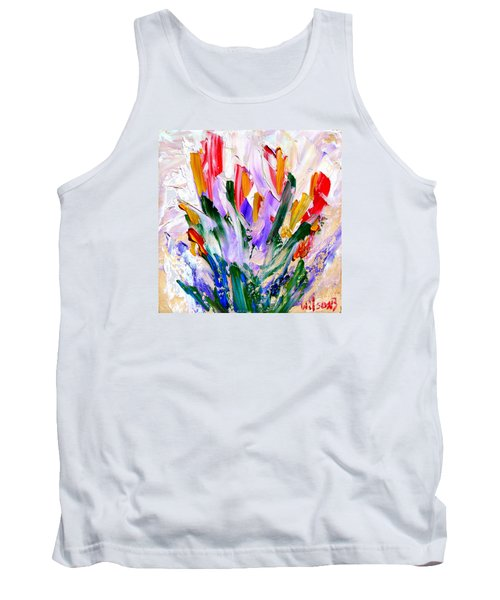 Tank Top featuring the painting Tulips by Fred Wilson