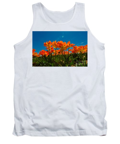 Tulips In The Sun Tank Top by John Roberts