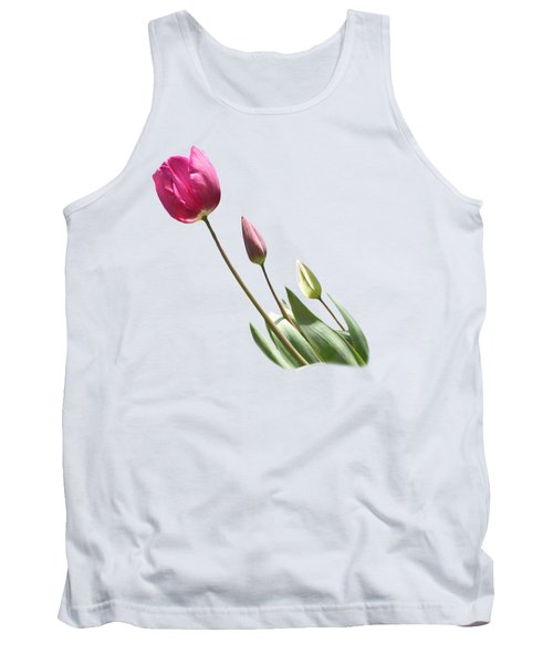 Tulips On Transparent Background Tank Top