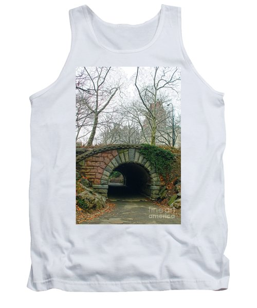 Tank Top featuring the photograph Tunnel On Pathway by Sandy Moulder