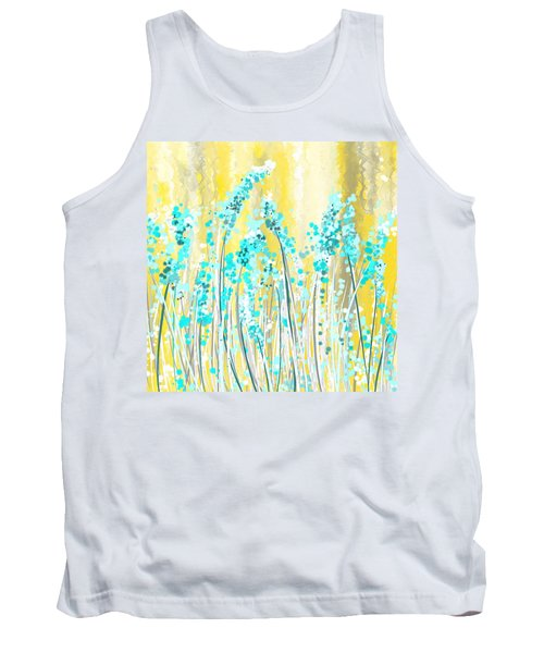 Turquoise And Yellow Tank Top