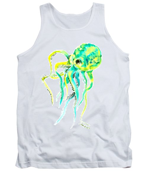 Turquoise Green Octopus Tank Top