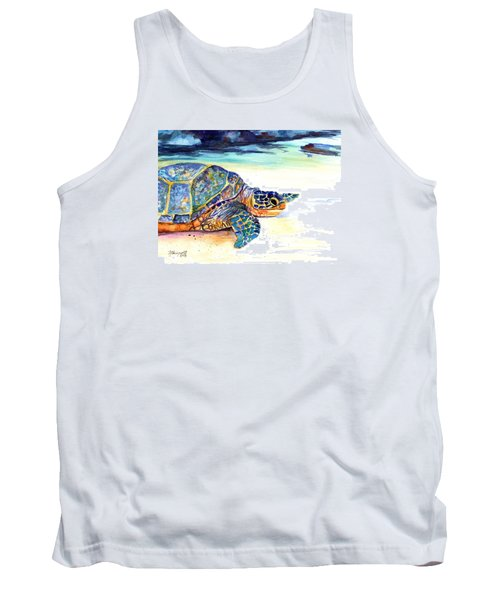 Turtle At Poipu Beach 2 Tank Top by Marionette Taboniar