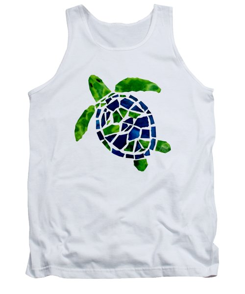 Turtle Mosaic Cut Out Tank Top