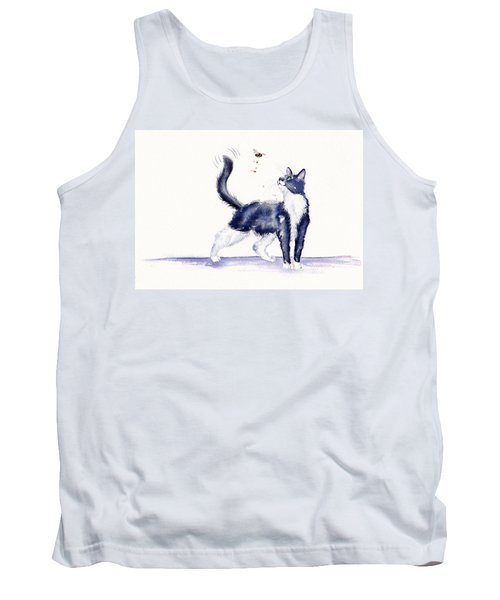 Tuxedo Cat And Bumble Bee Tank Top