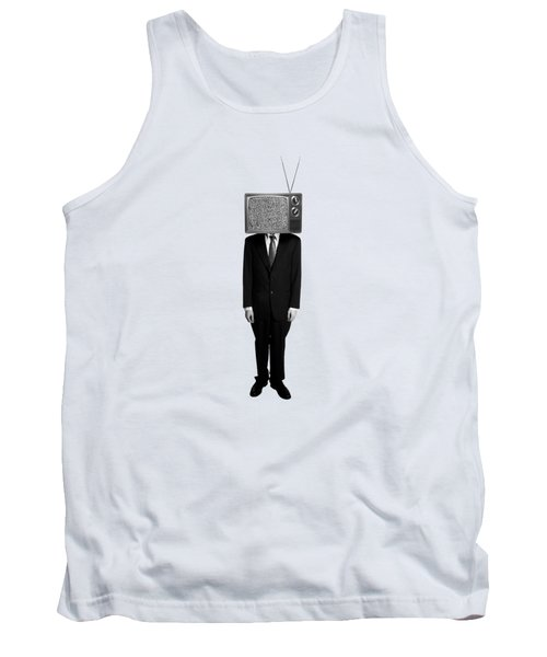 Tv Head Tank Top by Diane Diederich