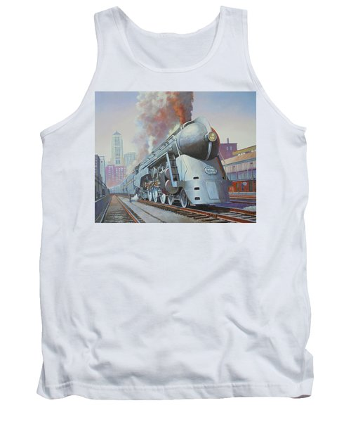 Tank Top featuring the painting Twenthieth Century Limited by Mike Jeffries