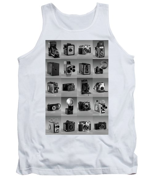 Twenty Old Cameras - Black And White Tank Top