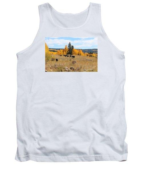 Twilight Fall Mountain Range In Colorado Tank Top