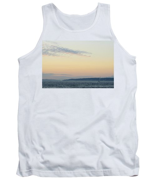Twilight Moment In Puget Sound Tank Top