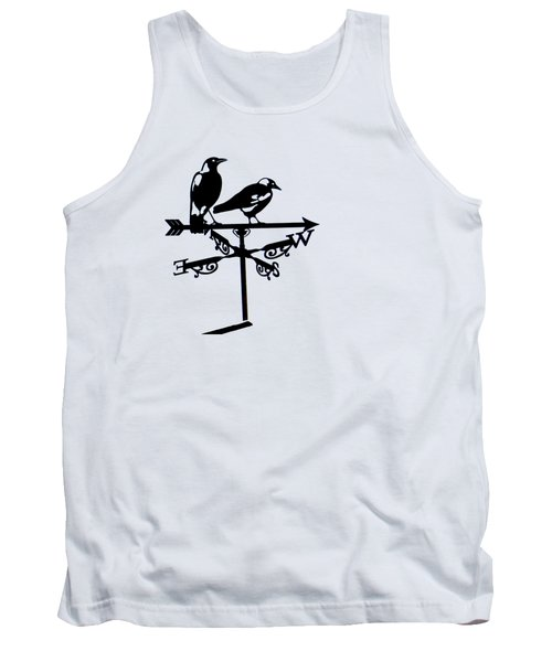 Two Magpies Tank Top by India Rattray