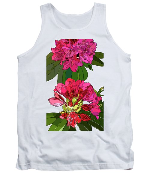 Two Rhododendrons Tank Top by Jamie Downs