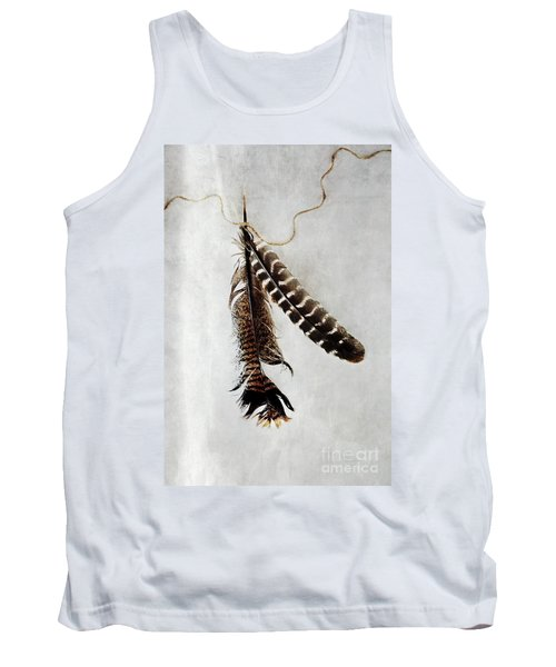 Two Tattered Turkey Feathers Tank Top