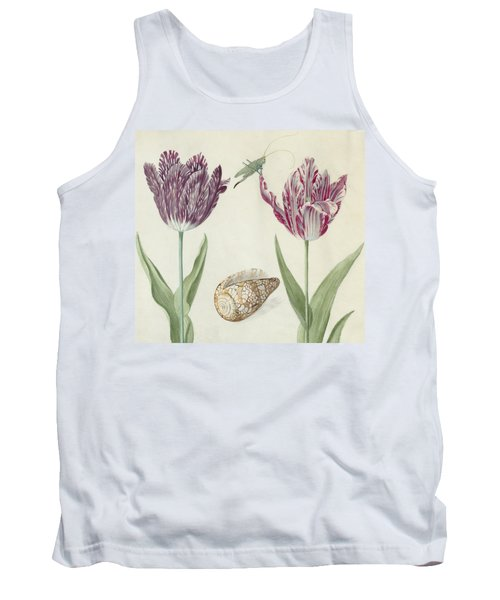 Two Tulips A Shell And A Grasshopper Tank Top
