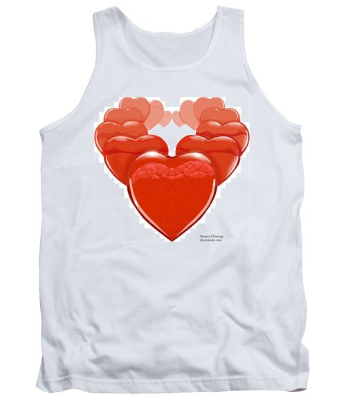 Two Hearts Become One Tank Top
