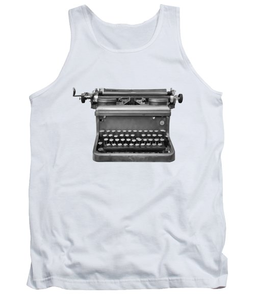 Typewriter Tank Top by Roger Lighterness