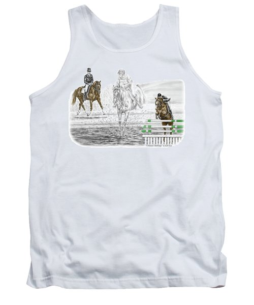 Ultimate Challenge - Horse Eventing Print Color Tinted Tank Top