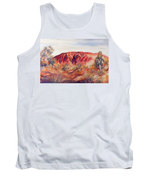 Tank Top featuring the painting Uluru, Central Australia, by Ryn Shell