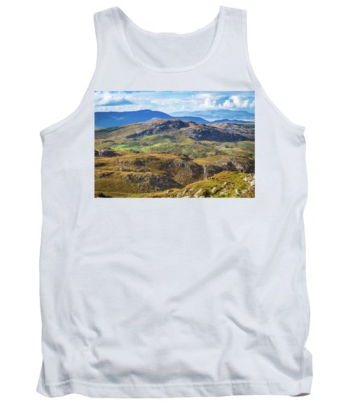 Tank Top featuring the photograph Undulating Landscape In Kerry In Ireland by Semmick Photo