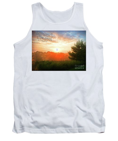 Tank Top featuring the photograph Unfailing Love by Kerri Farley