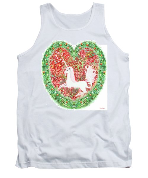 Unicorn Heart With Millefleurs Tank Top