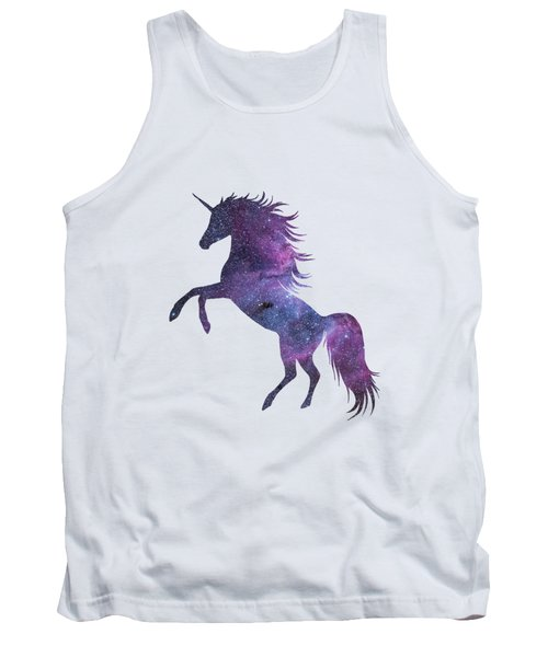 Unicorn In Space-transparent Background Tank Top