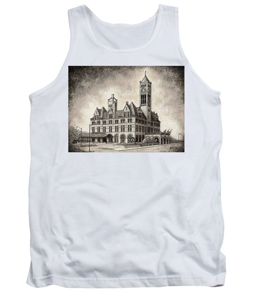 Union Station Mixed Media Tank Top