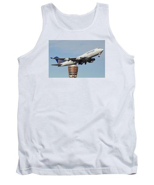 United Boeing 747-422 N128ua Phoenix Sky Harbor January 2 2015 Tank Top