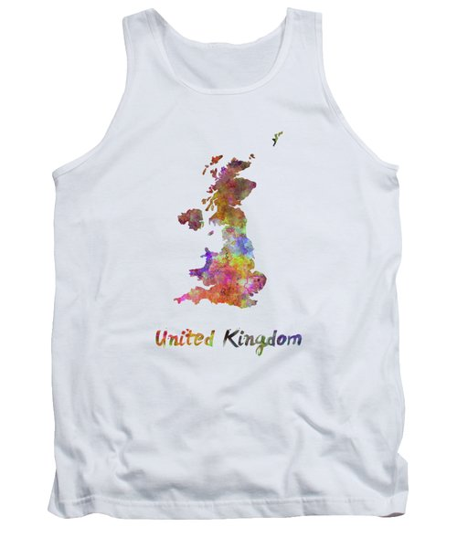 United Kingdom In Watercolor Tank Top