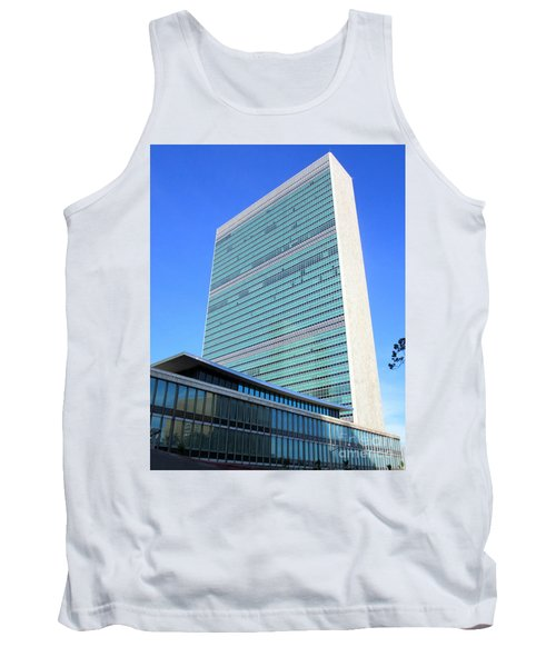 Tank Top featuring the photograph United Nations 1 by Randall Weidner