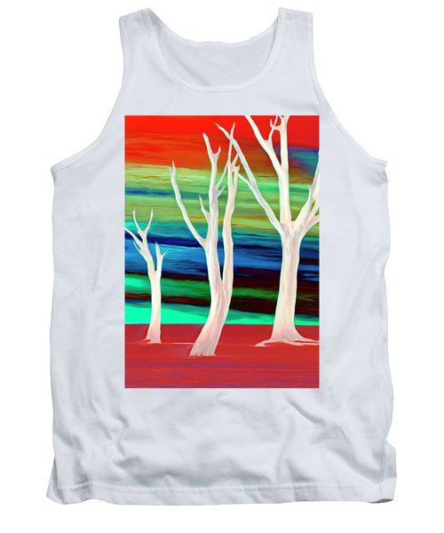 Tank Top featuring the photograph United Trees by Munir Alawi