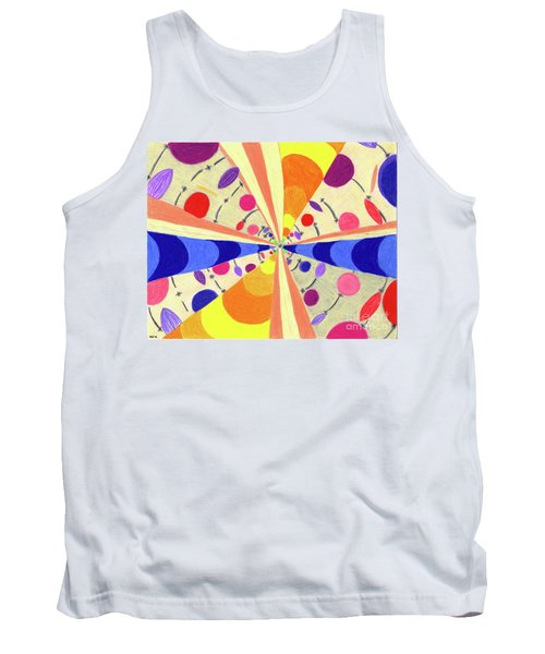 Tank Top featuring the drawing Universals by Kim Sy Ok