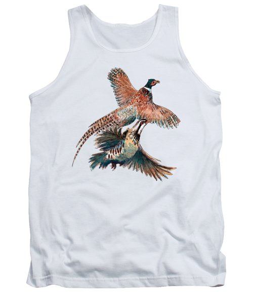 Up And Away Partridge And Pheasant Tank Top by Richard Skilton