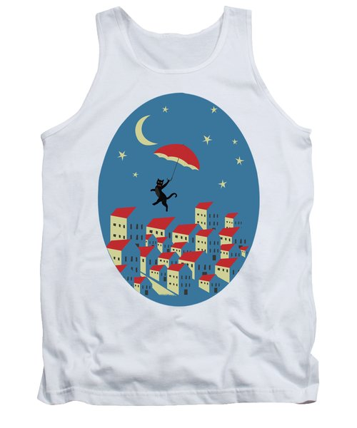 Upton The Cat And His Evening Adventures Tank Top