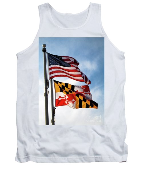 Us And Maryland Flags Tank Top