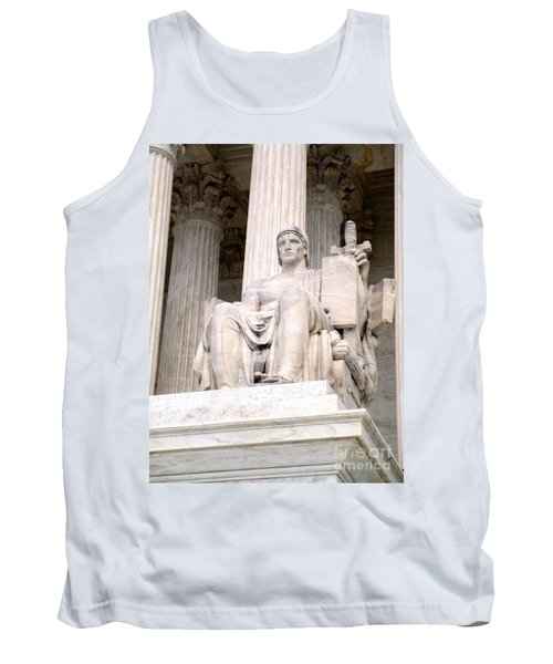 Us Supreme Court 8 Tank Top by Randall Weidner