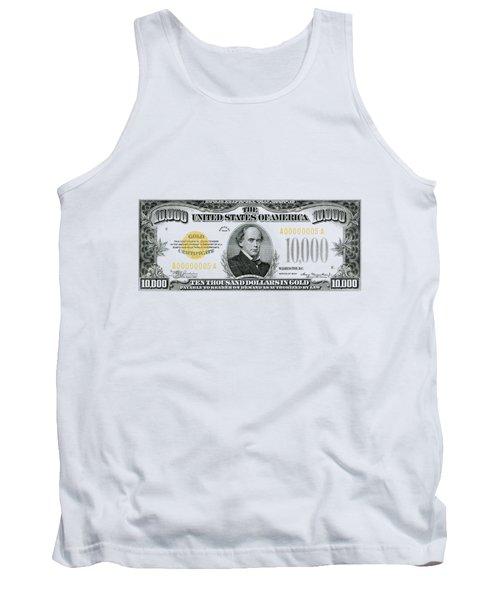 U.s. Ten Thousand Dollar Bill - 1934 $10000 Usd Treasury Note Tank Top