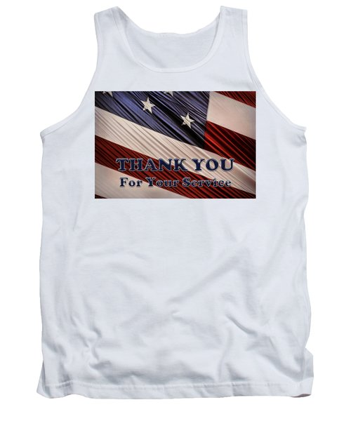 Usa Military Veterans Patriotic Flag Thank You Tank Top