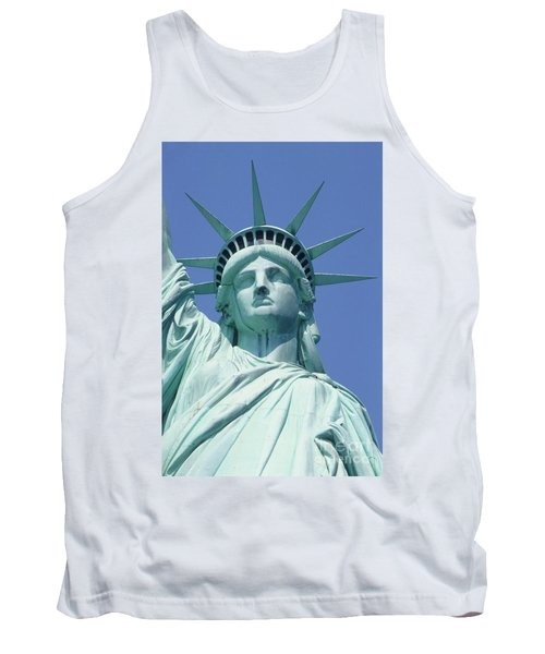 Usa, New York, Statue Of Liberty, Upper Section, Low Angle View Tank Top