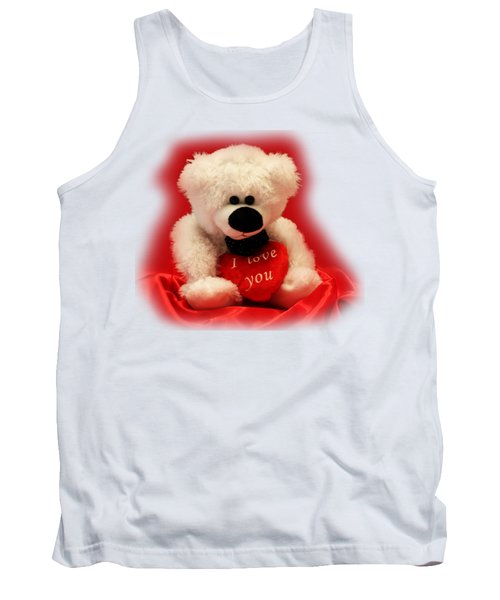 Tank Top featuring the photograph Valentine Bear by Linda Phelps