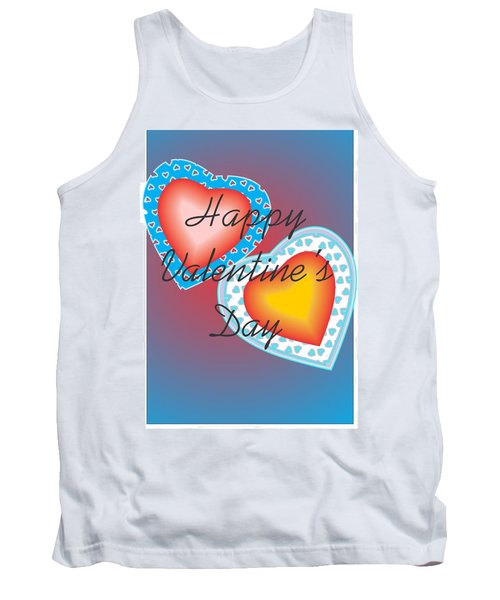 Tank Top featuring the painting Valentine Lace by Sherril Porter