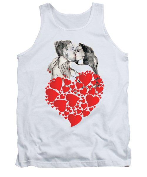 Valentine's Kiss - Valentine's Day Tank Top