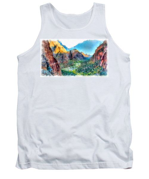 Valley Of Colours. Tank Top