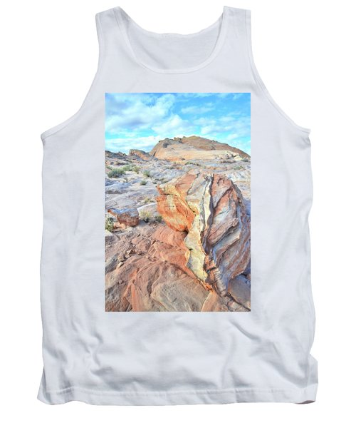 Valley Of Fire Alien Boulder Tank Top by Ray Mathis