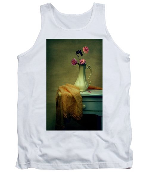 Vase Of Pink Roses Tank Top