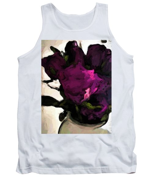 Vase Of Roses With Shadows 1 Tank Top