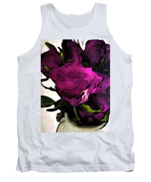 Vase Of Roses With Shadows 2 Tank Top